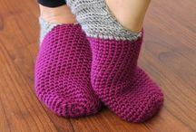 Crochet slippers/socks/cuffs