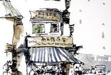 Ink / Watercolor
