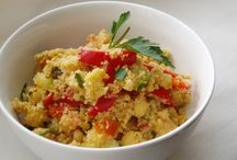 Vegan Bulgur, couscous and polenta dishes