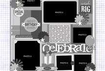 Templates: Themed Series / Block style templates with lots of photos and themed wordart included!