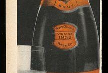 vintage wine ads / Old ads for wine.