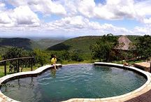 Magadzavane, Mlawula Game Reserve / This lodge is wonderfully positioned on the top of an escarpment over looking Mlawula, the views are incredible and each room enjoys these views as well.