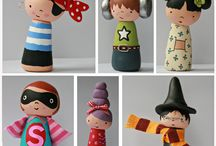 Craft for/ with children - peg dolls