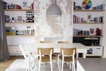 Kitchen Redesign / Kitchen Dining Room knock through. White Gloss Kitchen. Oak Floors. Stone quartz worktop.