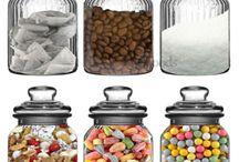 B + W themed kitchen essentials