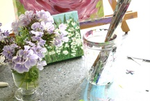 A Creative Life / Creative Ideas and Crafts like Art, Painting, Jewelry, Cards, Paper Flowers, Candle Making, Wall Art, Stone Artwork, Homemade Soaps, Handmade Gifts..... Creative Working Spaces, Studios......