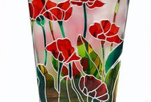 Hand painted glass vase1