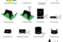 Black paper cat
