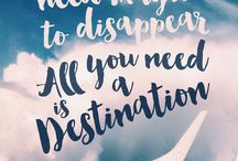 TRAVEL QUOTES / Travel quote adventure inspiration board