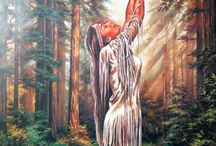 Native American / Art of beautiful native americans