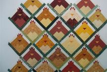 Log cabin animal quilts