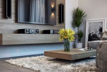 Floating tv unit and coffee table