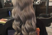 Silver Hair / Cool icy tones, bold deep greys and combinations of silver with pastels!