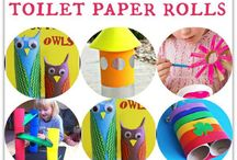 Loo Roll Craft / Toilet roll tube crafts for babies, toddlers and preschoolers.