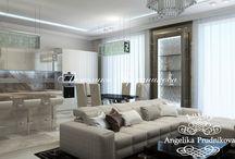 Дизайн квартиры в стиле модерн в Казарменном переулке / Дизайнеры спроектировали просторную и светлую квартиру с большими окнами. Интерьер для квартиры в Казарменном переулке выполнен в стиле модерн. В дизайне интерьера использовали оттенки серого, белого и светло-коричневого цвета. В данном интерьере студия Анжелики Прудниковой постаралась придать квартире особую индивидуальность и функциональность.