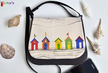 Hand painted purses and handbags on victorsboutique.com