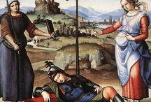 What makes a Raffaello a Raffaello?  / Inspired by the Metropolitan Museum book (1993) a board dedicated to the most famous Italian Renaissance Master.  The Raffaello's Sacra Famiglia is at Palazzo Madama  from 20/12/2013 to 23/02/2014