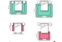 Correct placement of carpet squares.