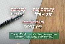 kelimelerin yazılışı