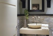 Bathrooms BIG & small / Get ideas for your bathroom remodel or for your new home from Holmes by Design. We specialize in custom tiling, fixtures, wall treatments, walk in showers, and much more.