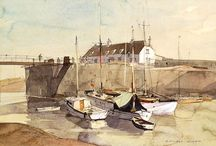 Rowland Hilder / There's so much I love about Hilder's work so this isn't board isn't about creating an encyclopedic inventory of his work - but rather a collection of his work that best encapsulates  what I like most about watercolour painting and Hilder's mastery of it.