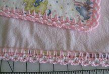 Crochet/Flannel blankets