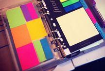 Planners, Filofax, Life Organization Notebook