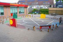 spelplein op het schoolplein / Speel meer dan 16 spellen op het spelplein of verzin je eigen spel!