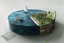 Ground Islands / Illustrations, infographics, intersections, surrealism etc.