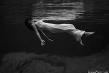 floating in water / Ophelia-esque