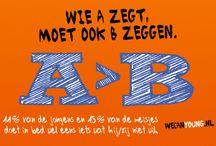 WE CAN Young - promo's  / WE CAN Young heeft leuke promotiematerialen. Op dit bord een aantal voorbeelden. Meer weten? Ga dan naar www.wecanyoung.nl voor meer info.