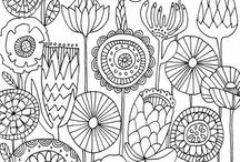 Art colouring pages