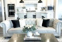 Kitchen, living and dining