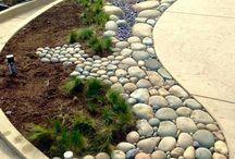 Garden and paving