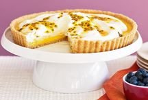 Passion fruit curd pie