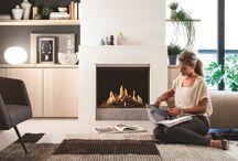 ECO-Prestige Balanced Flue Fireplace / Innovative Balanced Flue Fireplaces, with Unique Ceramic Gas Burner Logs and LED Fuel Bed