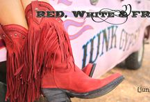 RED, WHite & Fringe! new stuff in gypsyville. . .  / by JuNK GyPSY