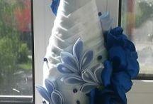 botellas y copas decorada