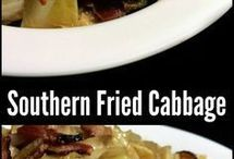 fried.  cabbage