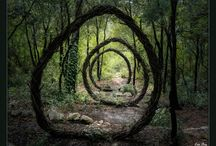 ✿ Landart ✿ / Landart made in nature with nature. perfekt for garden design.