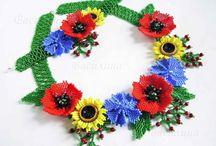 цветочные украшения из бисера / by Lubov Kazakova