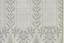 Crochet curtain and edge