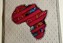"African print handmade cards / Recycling wax prints in my crafting whenever possible and feel happiest when I find ways to use items that would normally get trashed. I´ve used both african wax and african themed papers in my cards. The technique I used in my cards is called the Iris-folding  All these cards are 10 cm x 10 cm (4""x4"") #wax prints #Africa #handmade #cards"