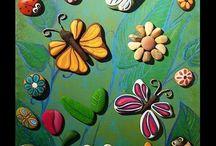 Kamienky art Pebble  art / maľované, lepené, lakované kamienky, obrazy, dekoratívne predmety