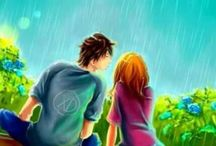 loveing season / Two Person love with each other in rain