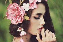 Flower fantasy photo shoot