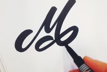M letter typography