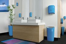 Complementary Washroom Range / Inject some vibrant colour into other areas of your workplace with our colour match range of plant containers and washroom hygiene products