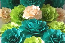 Paper Flowers / Paper flowers look brilliant and are perfect for decorating your home or wedding venue and accessories - or any other parties/events!  We have collected together some gorgeous paper flower loveliness on this board.  Enjoy!