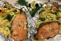 Запечённая рыба в духовке